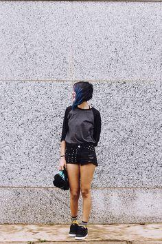 OOTD: De Volta Ao Azul e Meias Hora de Aventura - Relíquias da Lara, Look do dia, Cabelo Azul, Blue, Hair