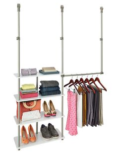 This renter-friendly closet add-on system takes only about 30 minutes to install and can travel during a move. Laminate Closet Maximizer, about $80; ClosetMaid, available at The Home Depot