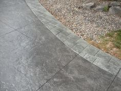 Stained stamped concrete patio garage 29 Ideas for 2019 Driveway Tiles, Stained Concrete Driveway, Colored Concrete Patio, Concrete Porch, Cement Patio, Concrete Color, Concrete Driveways, Stamped Concrete Walkway, Concrete Lamp
