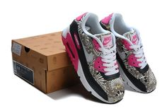 Nike Air Max 90 Womens Shoes New Black Pink Print New Releases
