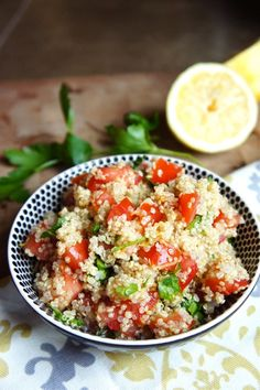 Lemon Parsley Quinoa | carrot bowl