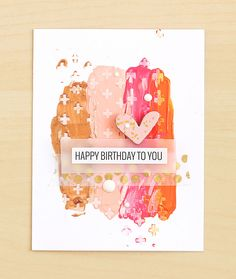 Happy Birthday to You (stamping in acrylic paint)