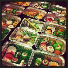 Candy sushi. Kids bento box favors.