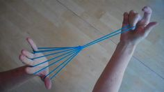 Witches Broom (or parachute), Step by Step, with string #stringgames #kids #games