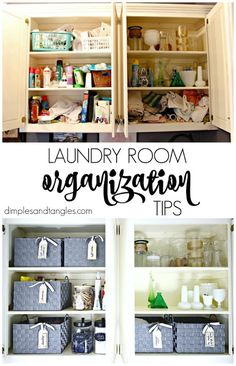 Dimples and Tangles: LAUNDRY ROOM ORGANIZATION REFRESH