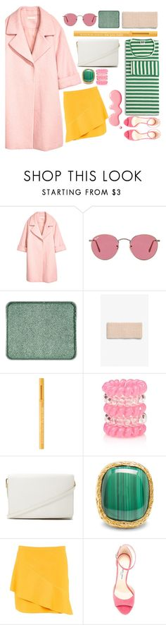 """""""Summer Vibes✨"""" by mehak1112 ❤ liked on Polyvore featuring H&M, Ray-Ban, shu uemura, Monki, Too Faced Cosmetics, Forever 21, Aurélie Bidermann, Topshop, Mads Nørgaard and Jimmy Choo"""