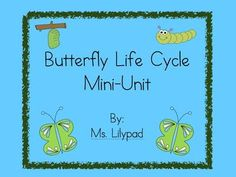 Butterfly life cycle centers ideas, activities, crafts, printables, guided reading books!