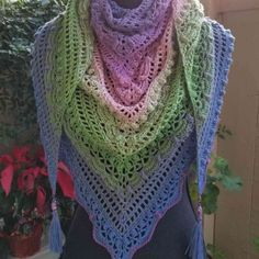 This pattern is designed by Johanna Lindahl of Mijo Crochet, and I used Color Bomb 501 Groovy Fantasy. Love this yarn, very easy to work with and makes a beautiful creation. Lost In Time Shawl, Crochet Projects, Photo Galleries, Gallery, Pattern, How To Make, Color, Crafts, Fashion