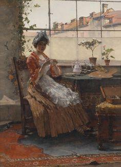 Afternoon Tea - Max Hammerl (german painter)