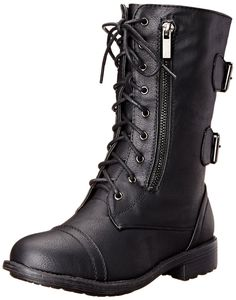 Top Moda Women's Pack-72 Lace Up Combat Boot * Tried it! Love it! Click the image. : Ladies boots