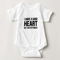 Pettiness Baby Bodysuit - funny quotes fun personalize unique quote