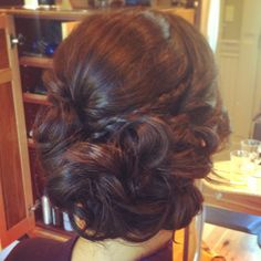 Prom hair soft side updo