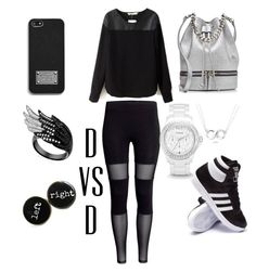 """""""Chill Mode"""" by danivsdaniella on Polyvore featuring MANU Atelier, Bling Jewelry, adidas, FOSSIL and MICHAEL Michael Kors"""