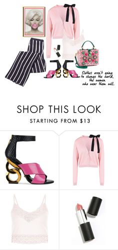 """""""Pink!"""" by juliehooper ❤ liked on Polyvore featuring Kat Maconie, RED Valentino, New Look, Dolce&Gabbana, Sigma Beauty and Pink"""