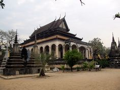 Historic Wat Bo, Siem Reap Cambodia