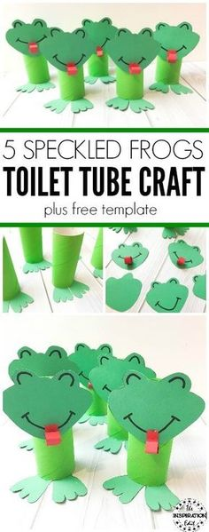 Toilet Tube Frog Craft For Kids · The Inspiration Edit - This super easy and fun kids toilet tube frog craft is brilliant for little ones to make or as a teaching resource. #Frogs #Frogtubecraft #frogcraft #frogs #kidscrafts #KBN #Preschool #Pre-K #EYFS #Mattime #preschoolresources #TPT #papercraft #speckledfrogs #springcraft #kidscraft #diyfrogcraft