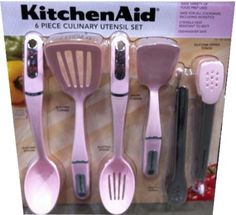 "KitchenAid ""Cook for the Cure"" Culinary Utensil Set (Light Pink - Pack of Kitchen Supplies, Kitchen Items, Kitchen Gadgets, Kitchen Stuff, Copper Kitchen, Kitchen Dining, Kitchen Decor, Cute Kitchen, Vintage Kitchen"
