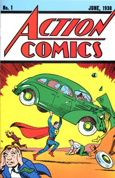 Superman is a fictional superhero. The character was created by writer Jerry Siegel and artist Joe Shuster, and first appeared in Action Comics a comic book published on April First Superman Comic, Superman Action Comics, Superman Art, Superman Logo, Batman, Superman Stuff, Comic Book Covers, Comic Books Art, Comic Art