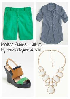 Fashion By Mariah: Modest Cute Summer Outfits