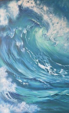 Ondas e Praia – Best Travel images in 2019 No Wave, Renaissance Paintings, Wave Art, Ocean Art, Ocean Waves, Contemporary Wall Art, Surf Art, Seascape Paintings, Beach Paintings