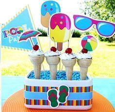 ¿Fiesta en la piscina? No te pierdas nuestros consejos para montar la mejor fiesta del verano.  #fiesta #verano #piscina #decoración #idea #DIY