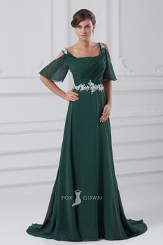 Shop affordable square-neck chiffon maxi ruched dress with appliqued waist at June Bridals! Over 8000 Chic wedding, bridesmaid, prom dresses & more are on hot sale. A Line Evening Dress, Evening Dresses With Sleeves, Chiffon Evening Dresses, Formal Evening Dresses, Chiffon Maxi, Robes D'occasion, Wedding Dress, Bridesmaid Dresses, Prom Dresses