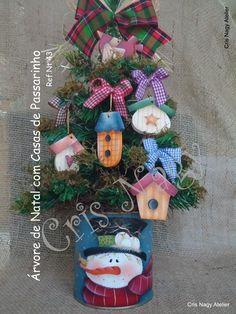 Árvore de Natal com Casas de Passarinho