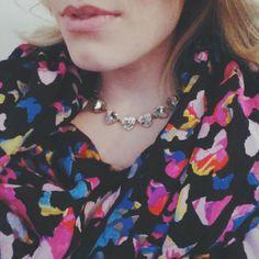Stella & Dot Scarf & Sommerville Peach Necklace #StellaDotStyle @Kel Sal