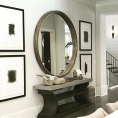 Inspo for north wall Wolf Design, Pent House, Accent Pieces, A Good Man, Interior Inspiration, Oversized Mirror, Home Goods, Home And Garden, Interior Design