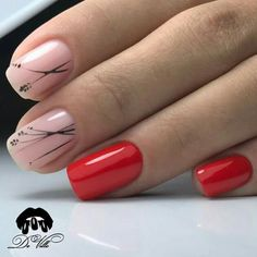 new ideas nails neutral essie manicures Bling Nails, Red Nails, Hair And Nails, Bling Bling, Minimalist Nails, Nail Art Vernis, Nagel Bling, Nagel Hacks, Fall Nail Art Designs