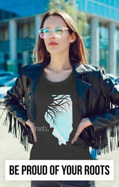 The perfect gift for anyone from Illinois! Show a little state pride with this comfy roots t-shirt. Illinois State, Girls Dp, Proud Of You, Roots, Pride, Backyard, Lady, Tees, Gift