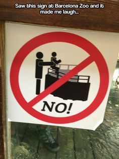 Please don't offer your children to the animals…