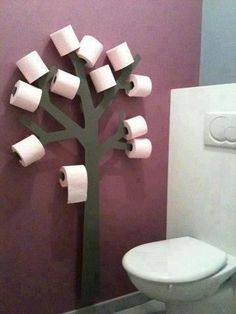 Cute for kids bath  and if it worked out in the space you could have a towel tree and a toilet paper tree