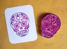 Hand Carved Stamp by SugarSkull17