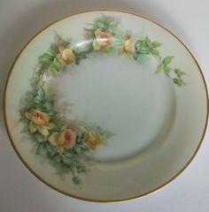 MZ Austria Handpainted Rose Plate c 1884 by LaCheriMaison on Etsy, $34.00