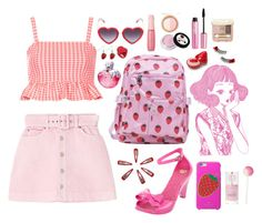"""""""Strawberry girl🍓✨❤️✨🍓"""" by angel17-angel17 ❤ liked on Polyvore featuring mel, TONYMOLY, Kate Spade, Too Faced Cosmetics, Forever 21, Topshop, Markus Lupfer, claire's, The Face Shop and H&M"""