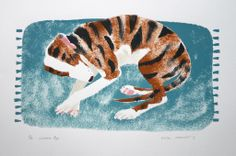 Mick Manning 'Lurcher Pup' stencil print http://www.stjudesprints.co.uk/collections/mick-manning