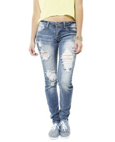 Destroyed Skinny Jean from Wet Seal