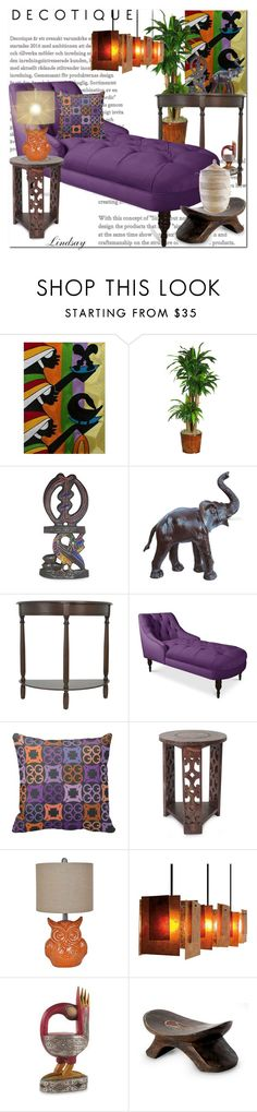 """""""African Adinkra"""" by lindsayd78 ❤ liked on Polyvore featuring interior, interiors, interior design, home, home decor, interior decorating, NOVICA, Nearly Natural and Crestview Collection"""