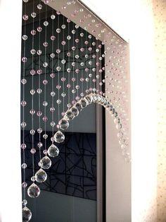 crystal beaded curtainglass beads curtain home decor - shabby chic Beaded Curtains, Crystal Curtains, Diy Curtains, Interior Decorating, Interior Design, Gypsy Decorating, Interior Office, Room Interior, Beautiful Curtains