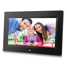 10 inch Digital Photo Frame with Remote Control High Resolution 1024x600 LCD screen Builtin Slideshow  adjustable Interval Time Wallmountable Easy Setup Black *** Read more reviews of the product by visiting the link on the image. (Note:Amazon affiliate link)