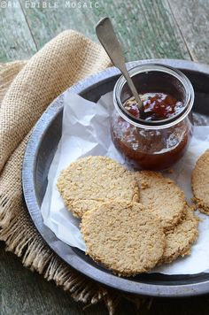 Gluten Free Scottish Oatcakes + Profile of Bob Moore on @AnEdibleMosaic | If you use Bob's Red Mill products, you're familiar with top quality whole grains: wholesome, timeless foods that have nourished people for generations.