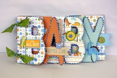 Liz Qualman Designs: Baby Saurus Mini Album with LYB