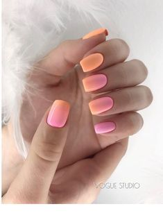 Are you looking for summer nails colors designs that are excellent for this summer? See our collection full of cute summer nails colors ideas and get inspired! Premium Rechargeable Pet's Nail Grinder 36 Neutral Nail Colors that Pair With Any Outfit Colorful Nails, Colorful Nail Designs, Ombre Nail Designs, Ombre Nail Art, Nail Designs For Summer, Coral Ombre Nails, Fun Nail Designs, Ombre Nail Colors, Diy Ombre