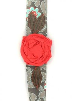 Vintage Rose Wraps Headbands: Flowering Fern