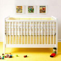 Sailor + Regatta Yellow Crib Sets (found via oh joy! Yellow Bedding, Striped Bedding, Baby Crib Bedding Sets, Crib Sets, Nursery Room, Baby Room, Nursery Ideas, Buy Bed, Kid Bedrooms