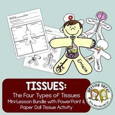 Human Body Tissues - Distance Learning + Digital Lesson Blood is a tissue?! Yep! There are four types of tissue - learn about them with this quick intro to tissues of the body. WHAT'S INCLUDED in this 1-2 DAY MINI-BUNDLE:• 7 slide fully-editable PowerPoint presentation with title slides, objectives, bell work and guided notes • 2 NON-EDITABLE PDF pages which includes aligned notes and tissue paper doll activity AND Includes DIGITAL GOOGLE CLASSROOM links!