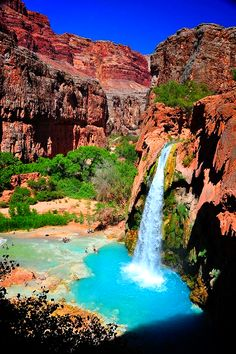 Havasu falls, Grand canyon,USA.