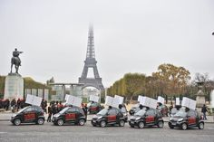 Vehicle Graphics: Big Cigs: Oversized cigarette packs made from Stora Enso Re-board take over Paris.