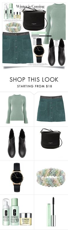 """""""Untitled #768"""" by capm ❤ liked on Polyvore featuring Warehouse, MANGO, Stephanie Rad, Lancaster, Freedom To Exist, Honora, Clinique and H&M"""